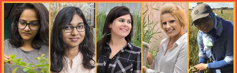 2018 WIT Award Winners (l. - r.) Radhika Bartaula, Sreya Ghosh, Raheela Rehman, Hannah Robinson, and Meriem Aoun