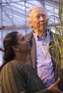 Andy Kleinhofs and Jayaveeramuthu Nirmala. Photo credit: Brian Clark/Washington State University